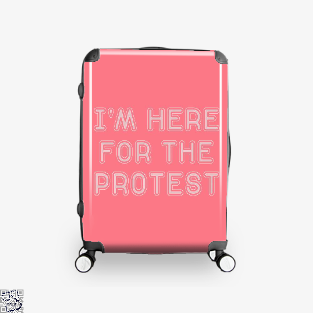 Im Here For The Protest Droll Suitcase - Productgenjpg