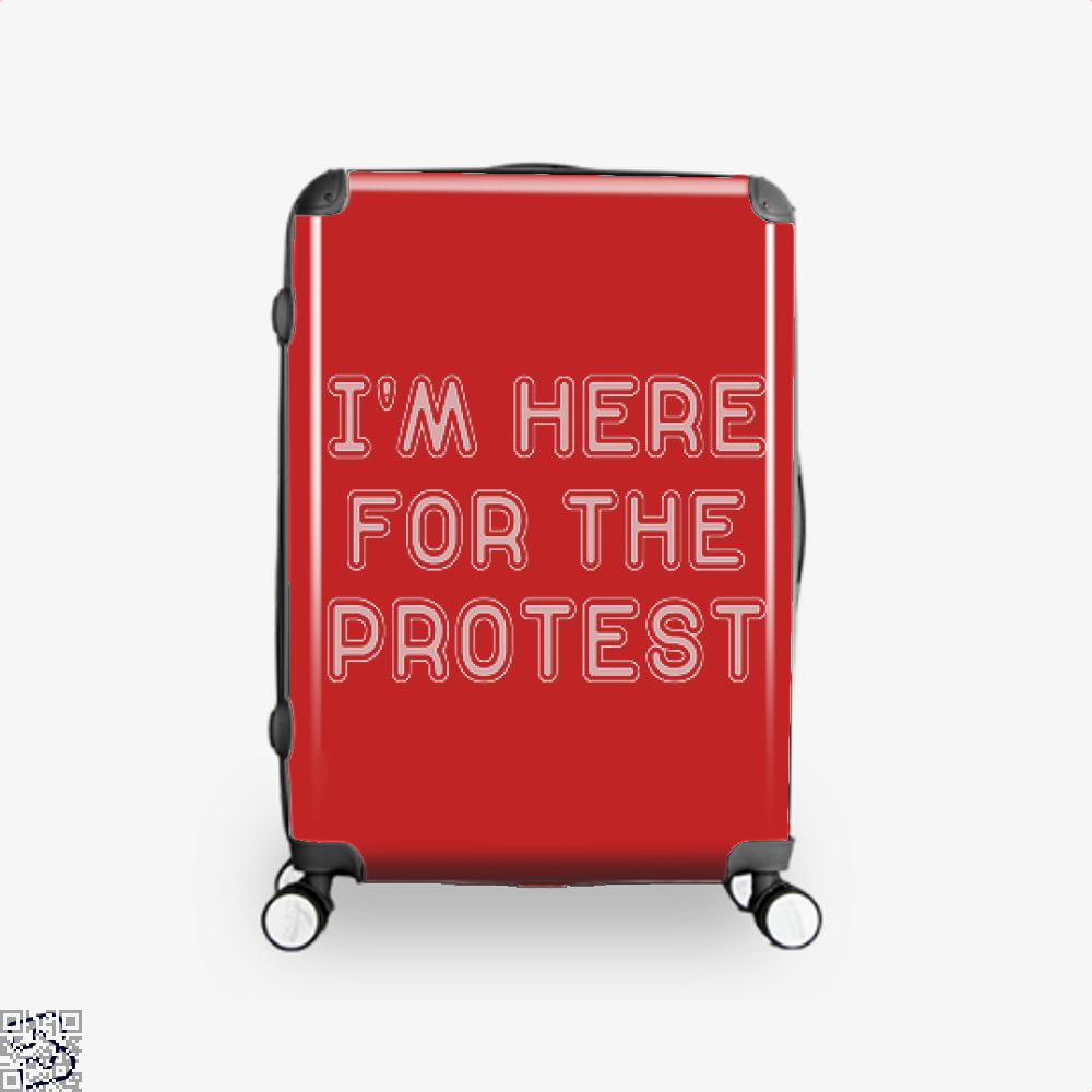 Im Here For The Protest Droll Suitcase - Red / 16 - Productgenjpg
