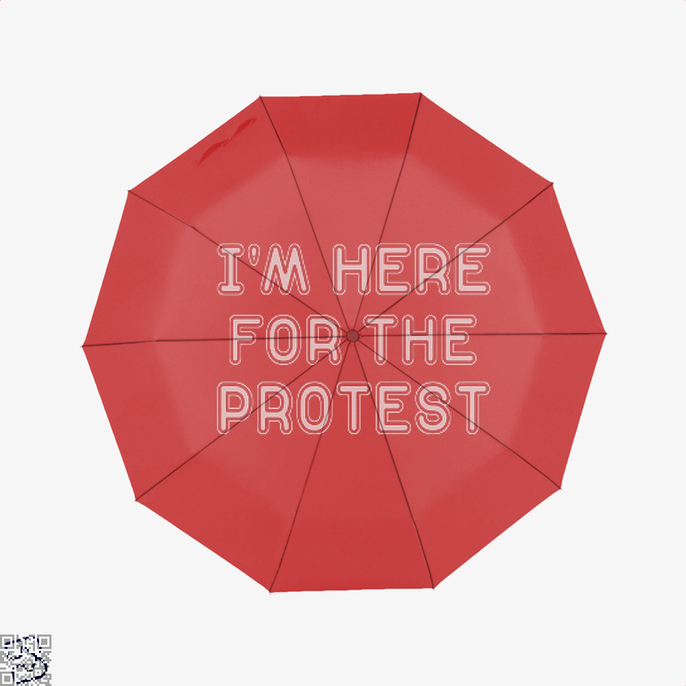 Im Here For The Protest Droll Umbrella - Red - Productgenjpg
