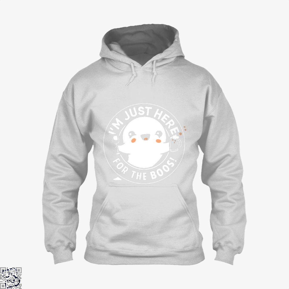 Im Just Here For The Boos Cute Halloween Hoodie - White / X-Small - Productgenjpg