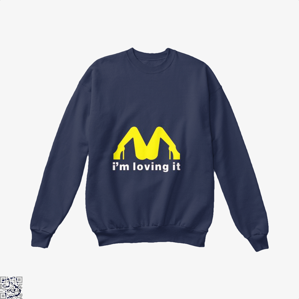 Im Loving It Mcdonald Risque Crew Neck Sweatshirt - Blue / X-Small - Productgenjpg