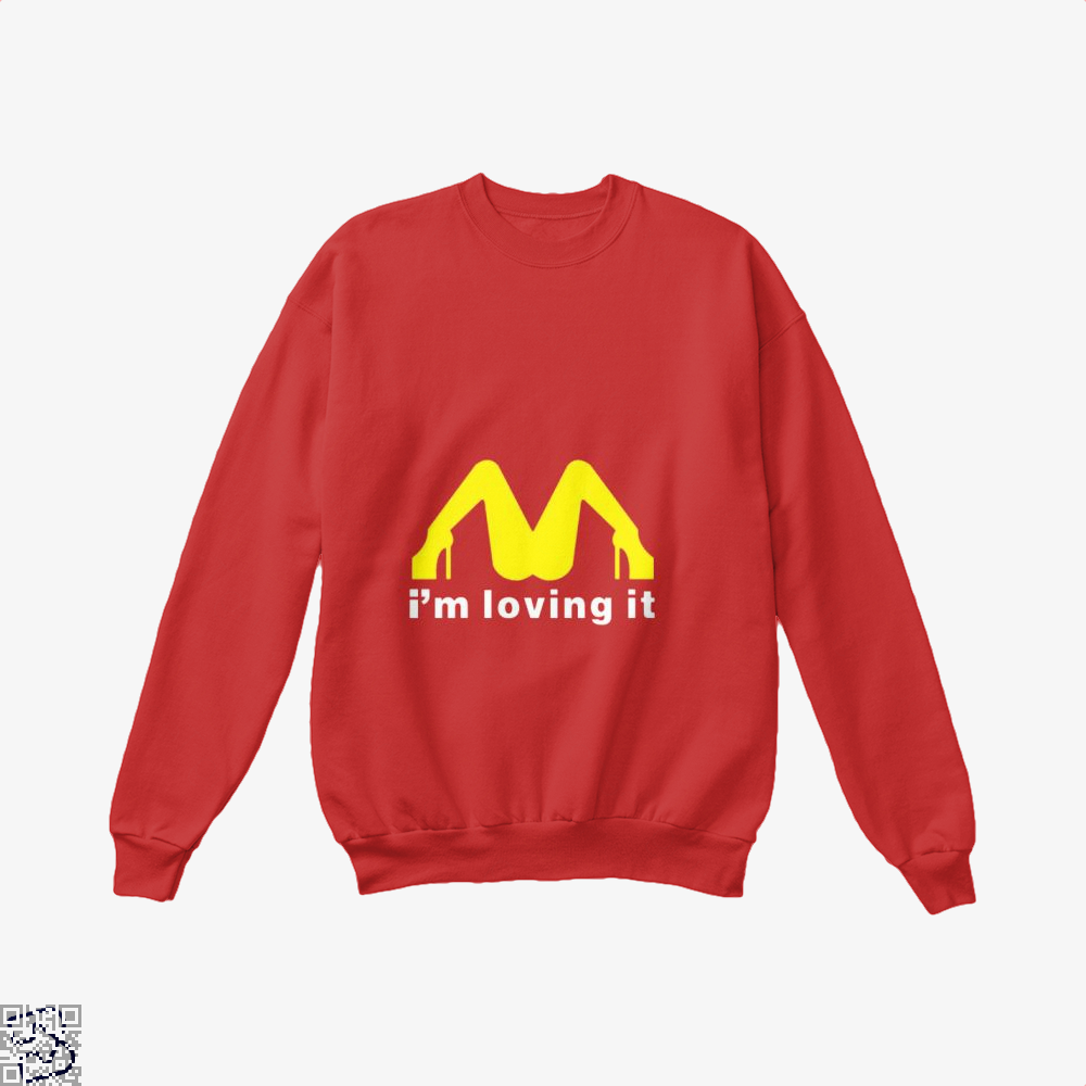 Im Loving It Mcdonald Risque Crew Neck Sweatshirt - Red / X-Small - Productgenjpg
