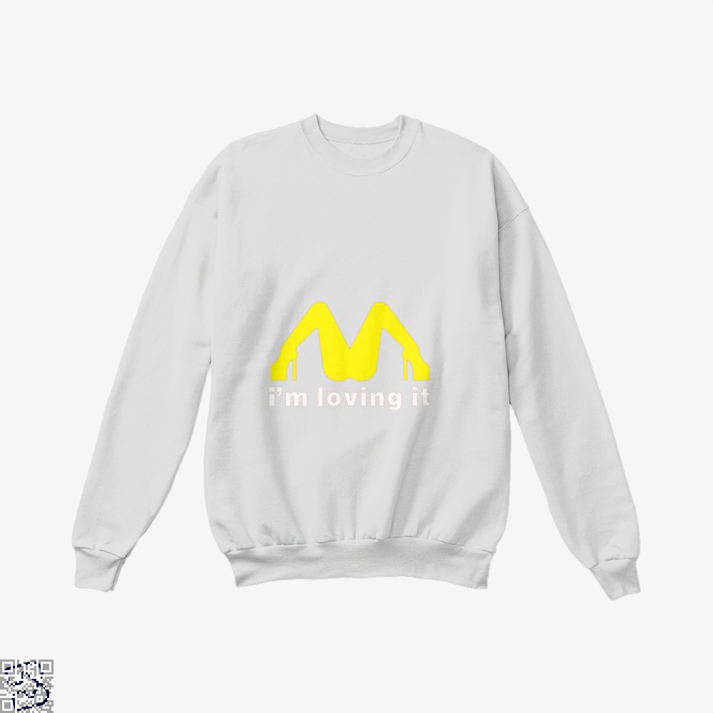Im Loving It Mcdonald Risque Crew Neck Sweatshirt - White / X-Small - Productgenjpg