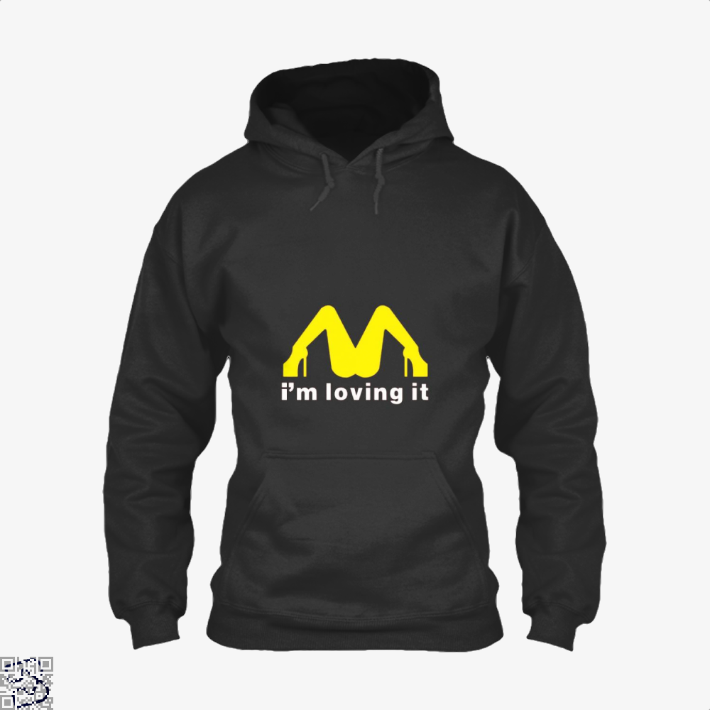 Im Loving It Mcdonald Risque Hoodie - Black / X-Small - Productgenjpg
