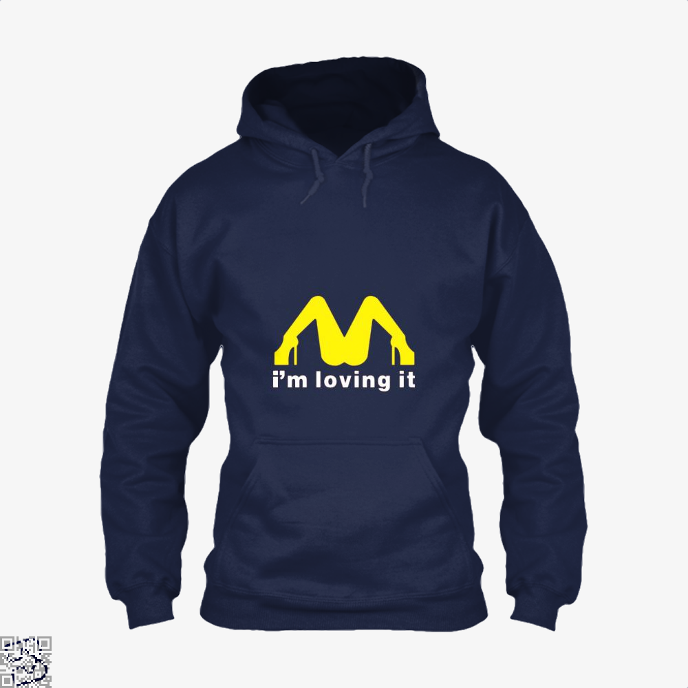 Im Loving It Mcdonald Risque Hoodie - Blue / X-Small - Productgenjpg
