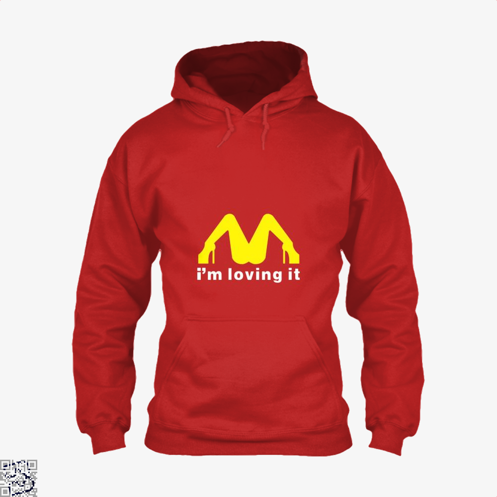 Im Loving It Mcdonald Risque Hoodie - Red / X-Small - Productgenjpg