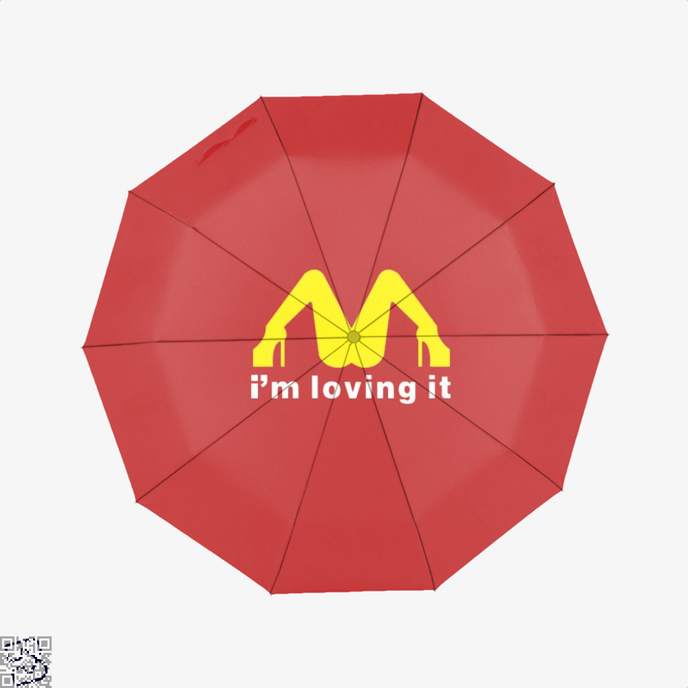 Im Loving It Mcdonald Risque Umbrella - Red - Productgenjpg
