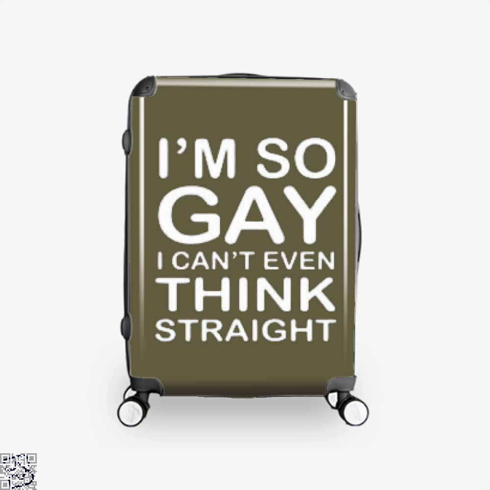 Im So Gay Deadpan Suitcase - Productgenjpg