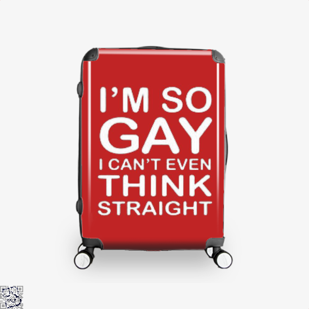 Im So Gay Deadpan Suitcase - Red / 16 - Productgenjpg