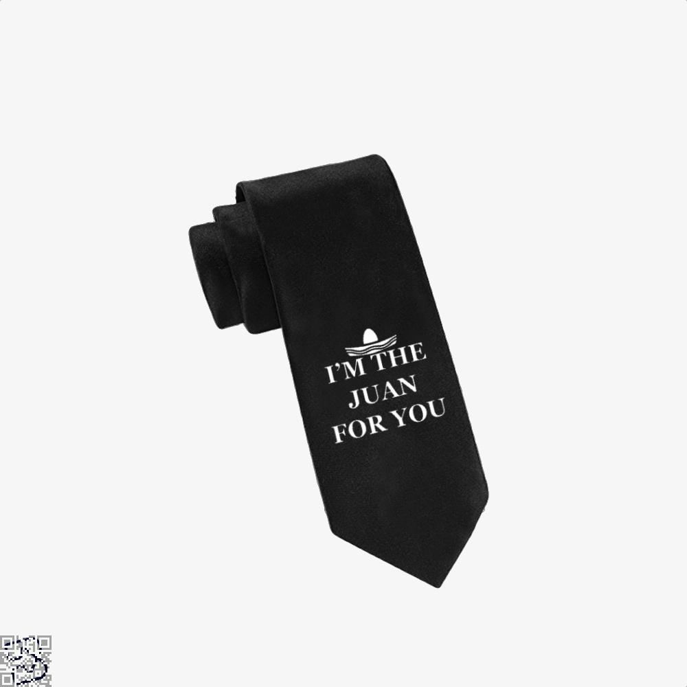 Im The Juan For You Epigrammatic Tie - Black - Productgenjpg