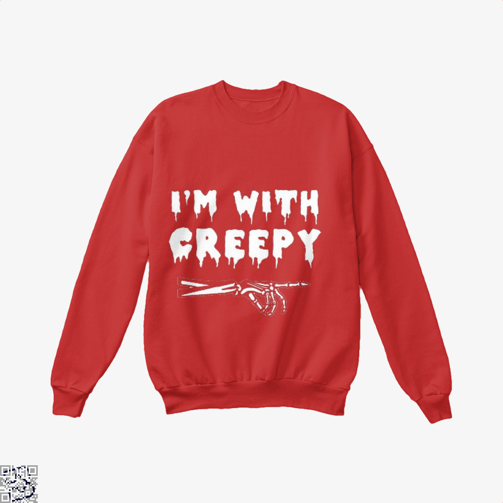 Im With Creepy Hyperbolic Crew Neck Sweatshirt - Productgenjpg