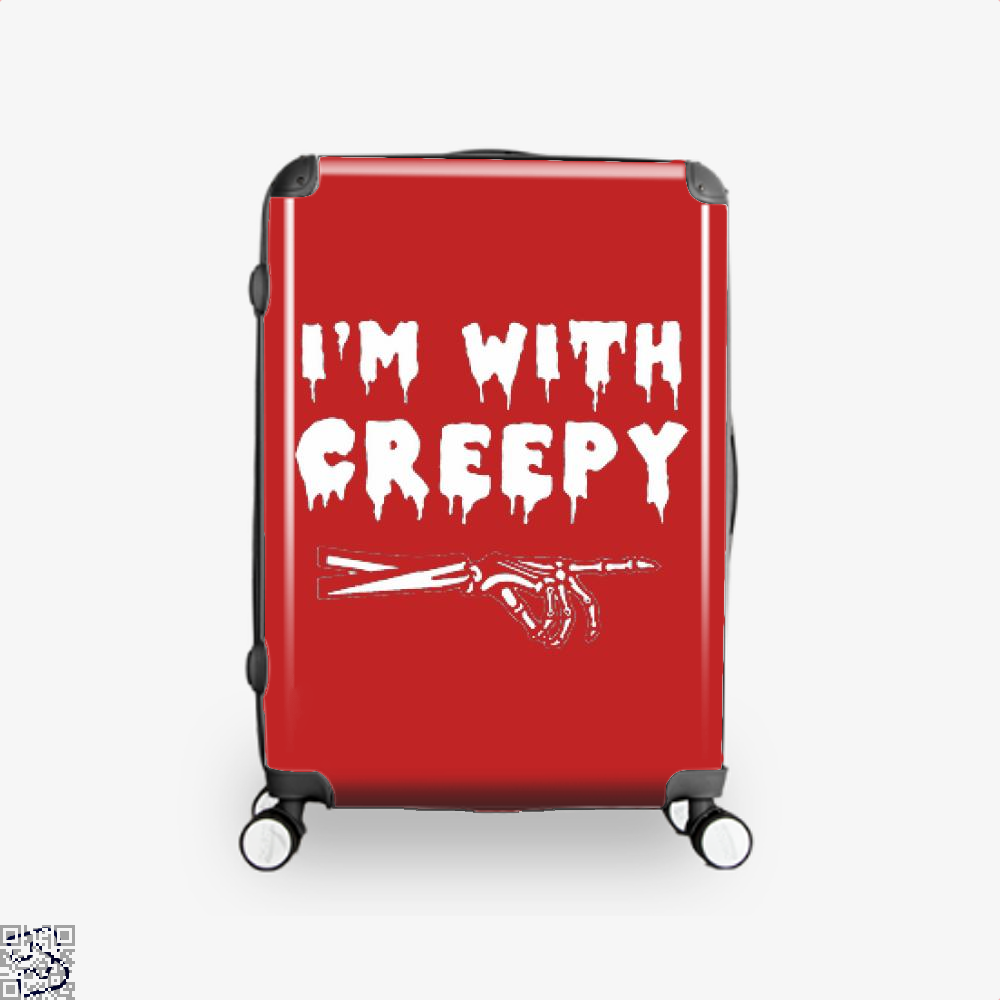 Im With Creepy Hyperbolic Suitcase - Red / 16 - Productgenjpg