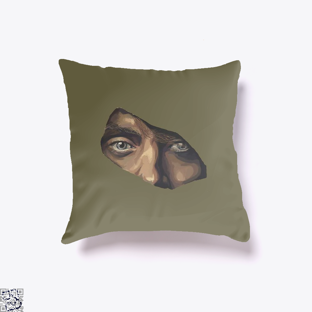 Indian Eyes Aathira Mohan Throw Pillow Cover - Brown / 16 X - Productgenjpg