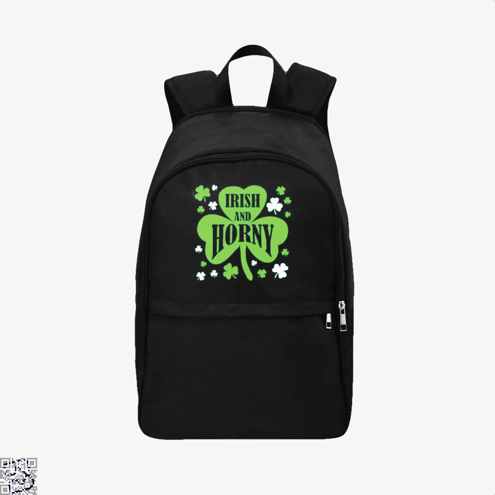 Irish And Horny Clover Backpack - Black / Adult - Productgenjpg