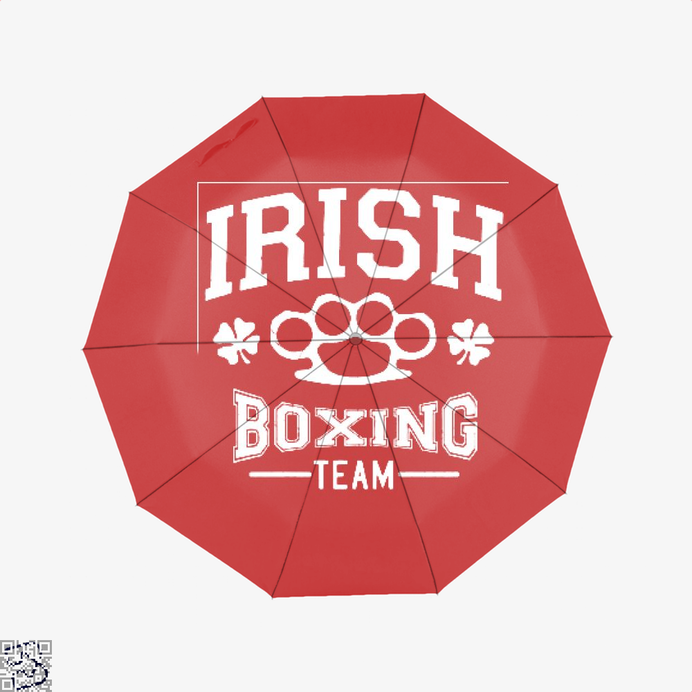 Irish Boxing Team Clover Umbrella - Red - Productgenjpg