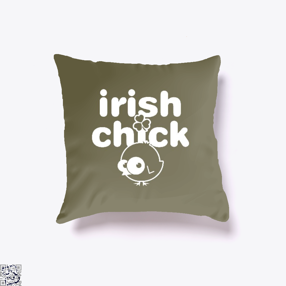 Irish Chick Clover Throw Pillow Cover - Brown / 16 X - Productgenjpg