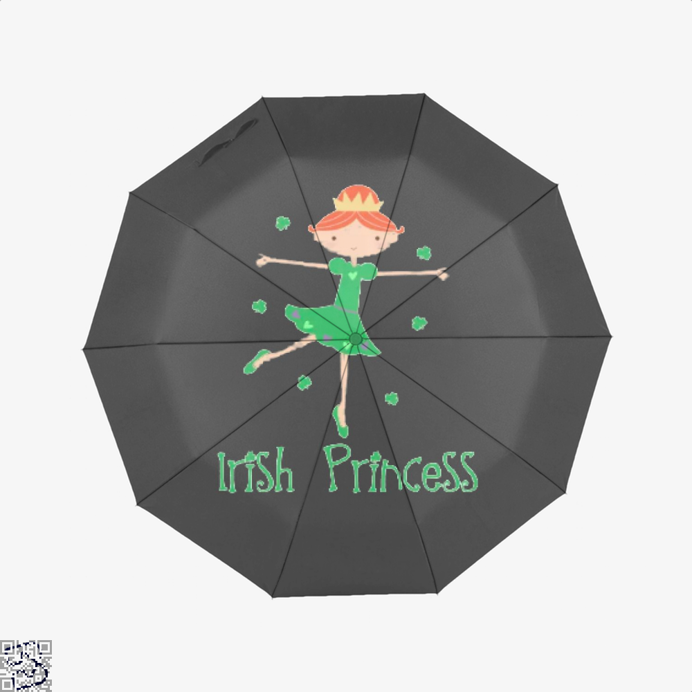 Irish Princess St Patricks Day Clover Umbrella - Black - Productgenjpg