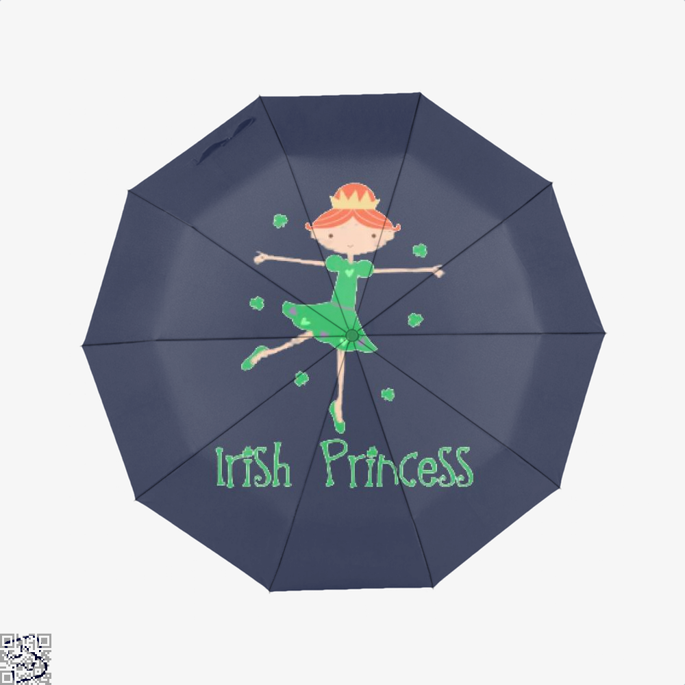 Irish Princess St Patricks Day Clover Umbrella - Blue - Productgenjpg