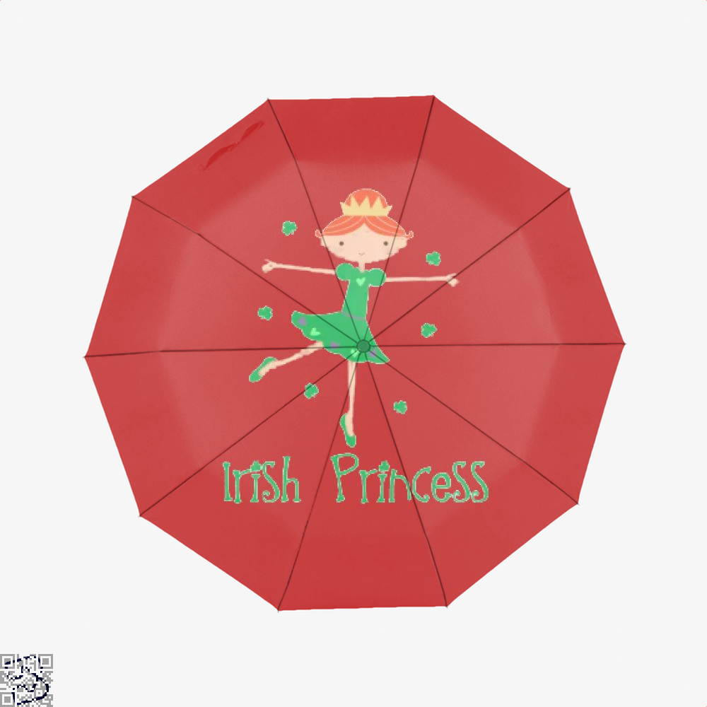 Irish Princess St Patricks Day Clover Umbrella - Red - Productgenjpg