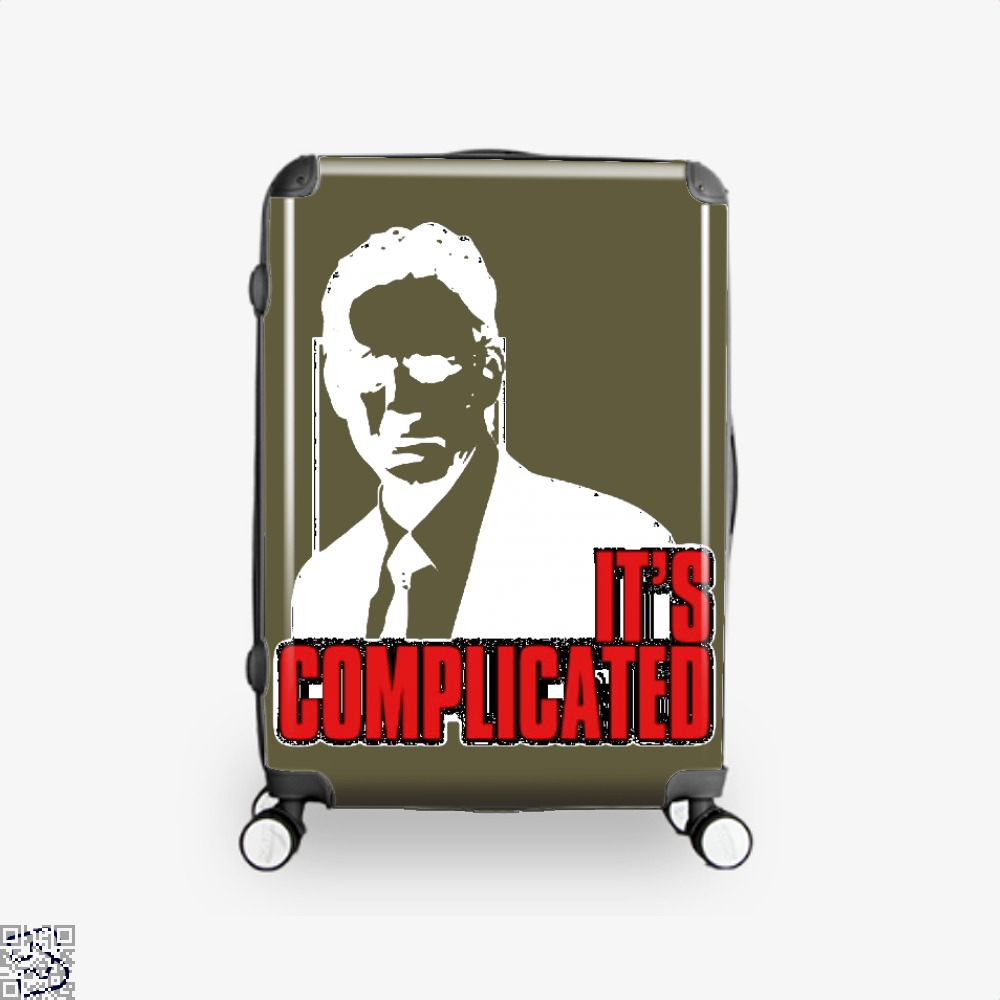Its Complicated Jordan Peterson Suitcase - Brown / 16 - Productgenapi