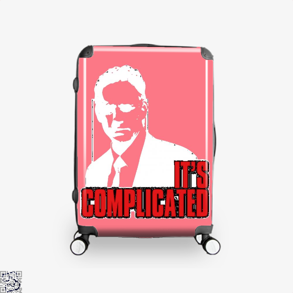 Its Complicated Jordan Peterson Suitcase - Pink / 16 - Productgenapi