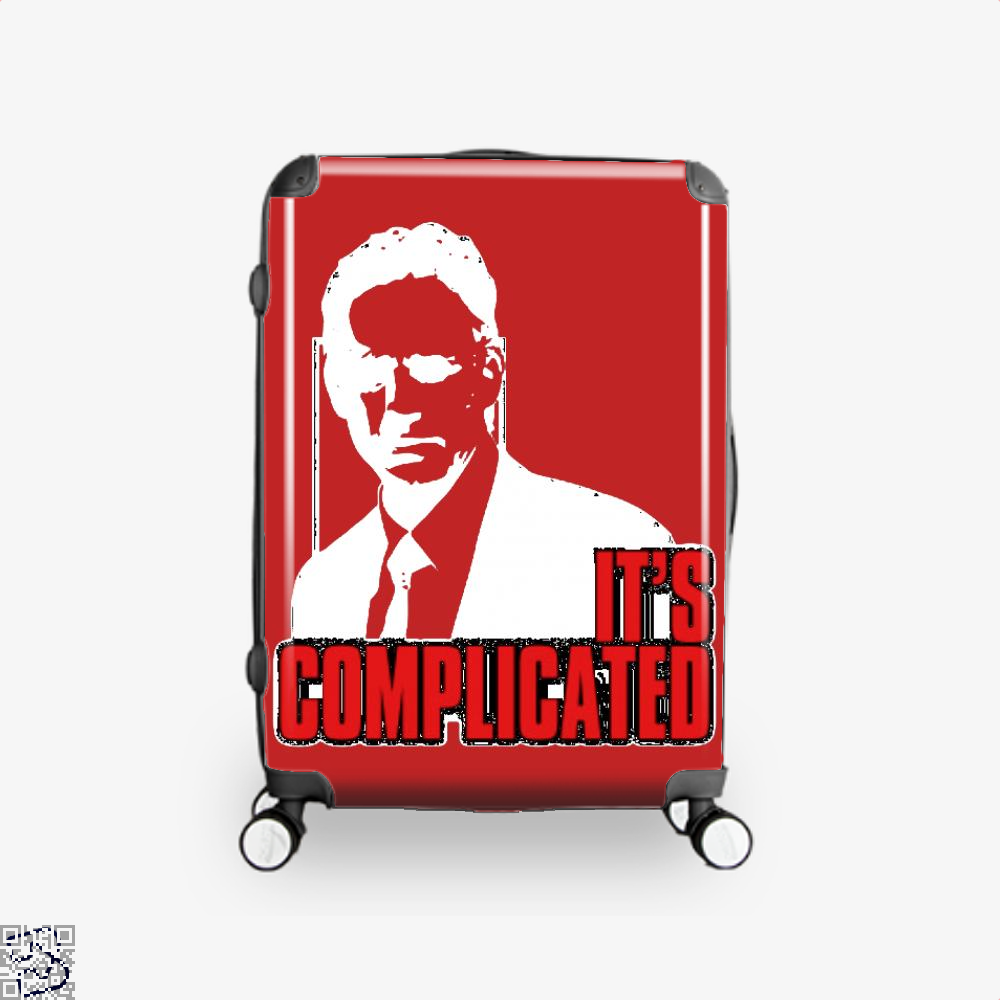 Its Complicated Jordan Peterson Suitcase - Red / 16 - Productgenapi