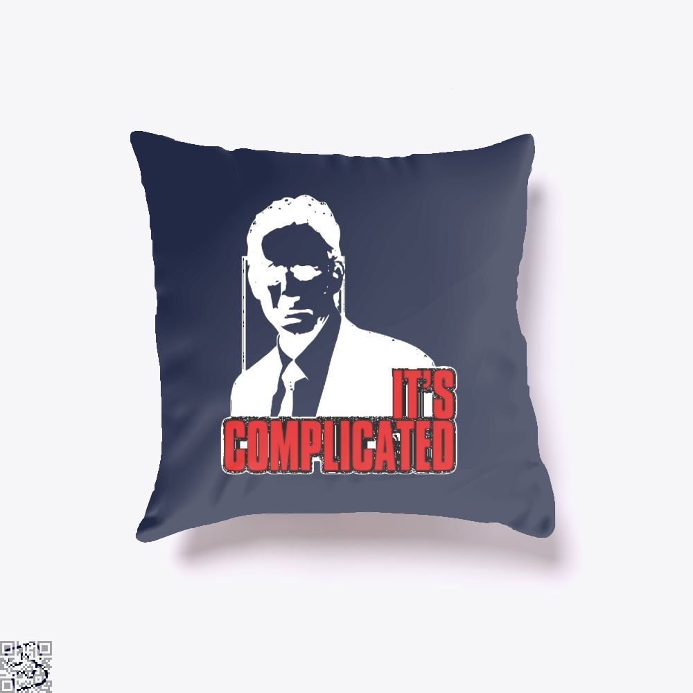 Its Complicated Jordan Peterson Throw Pillow Cover - Blue / 16 X - Productgenapi