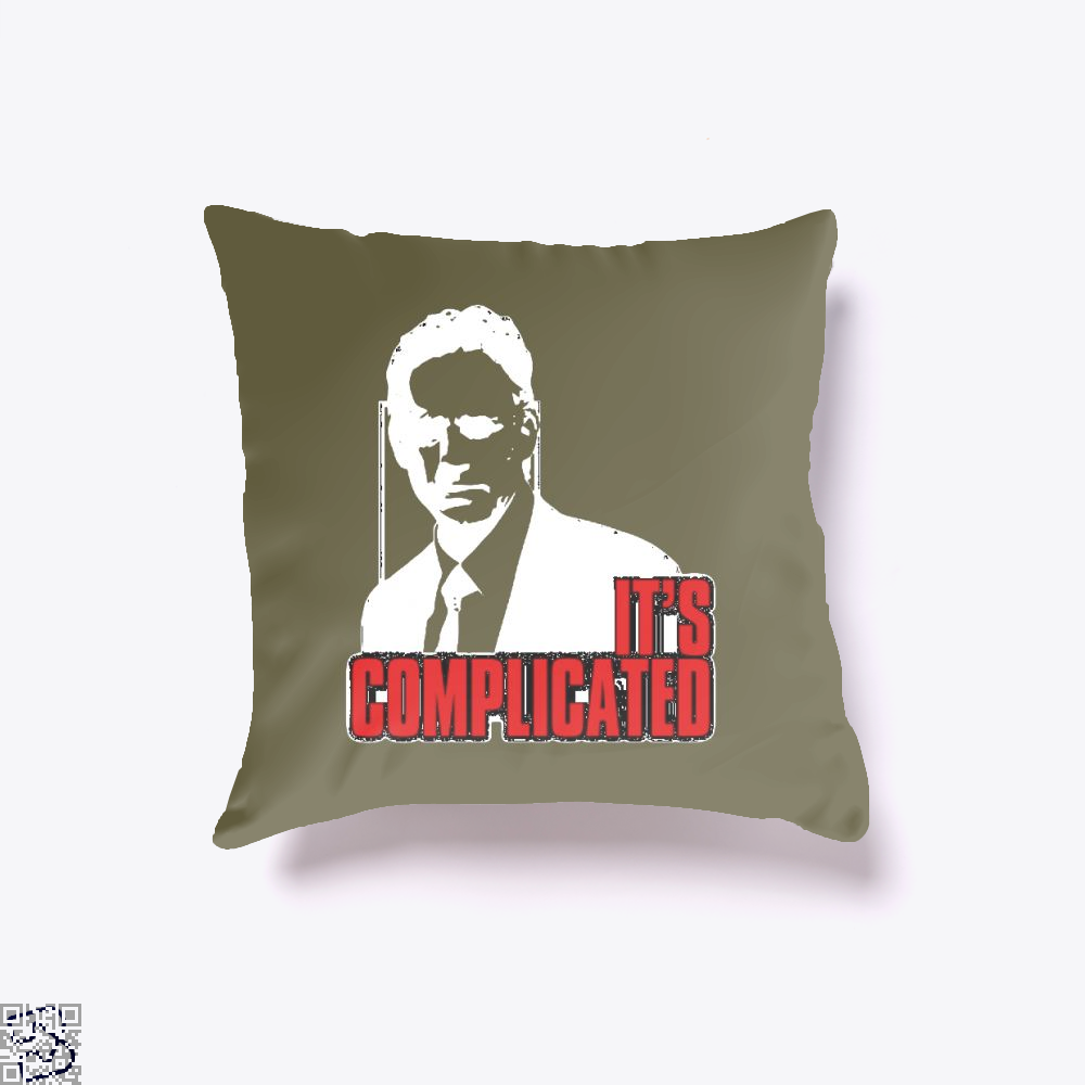Its Complicated Jordan Peterson Throw Pillow Cover - Brown / 16 X - Productgenapi