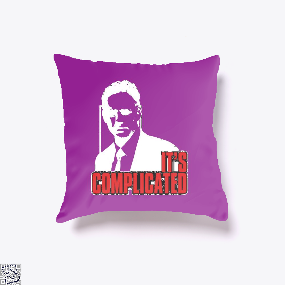 Its Complicated Jordan Peterson Throw Pillow Cover - Purple / 16 X - Productgenapi