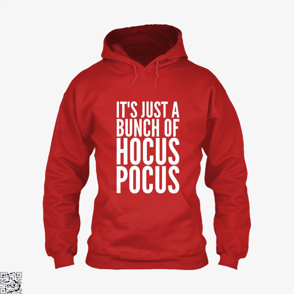 Its Just A Bunch Of Hocus Pocus Halloween Hoodie - Red / X-Small - Productgenjpg