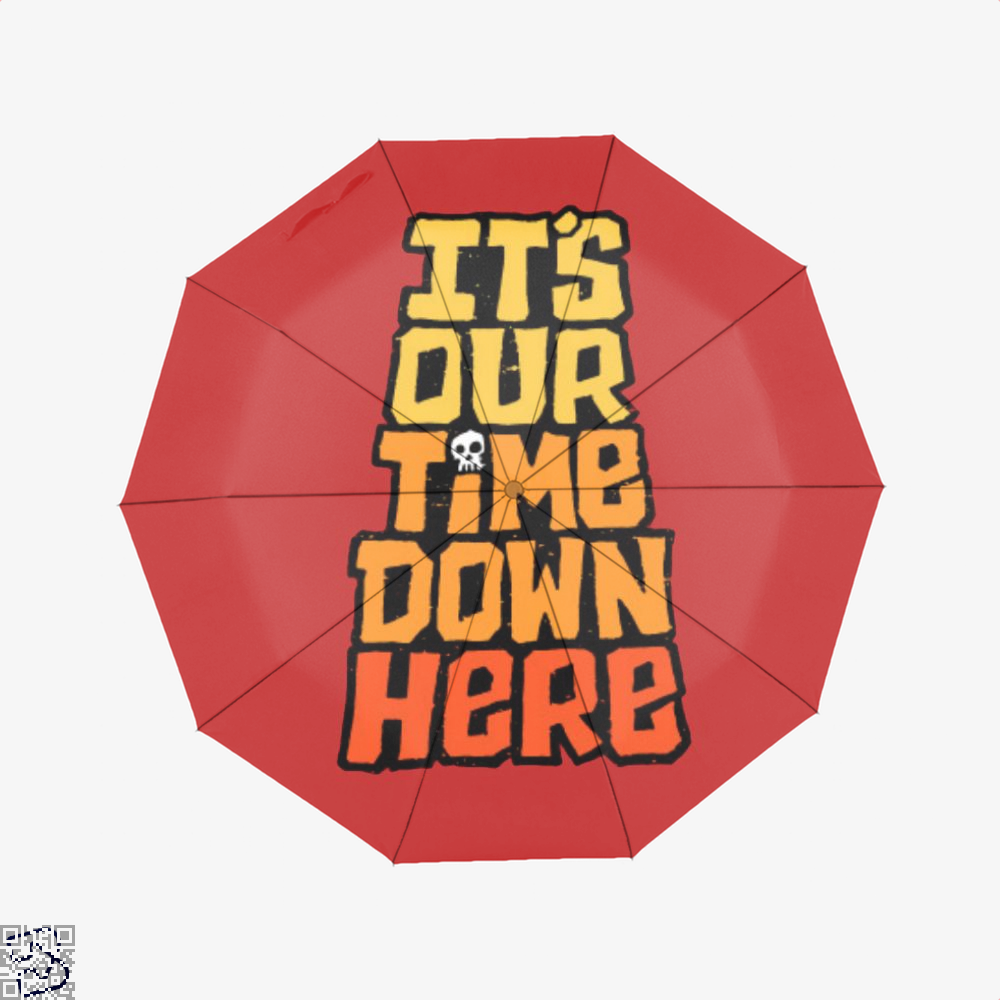 Its Our Time Down Here The Goonies Umbrella - Red - Productgenapi