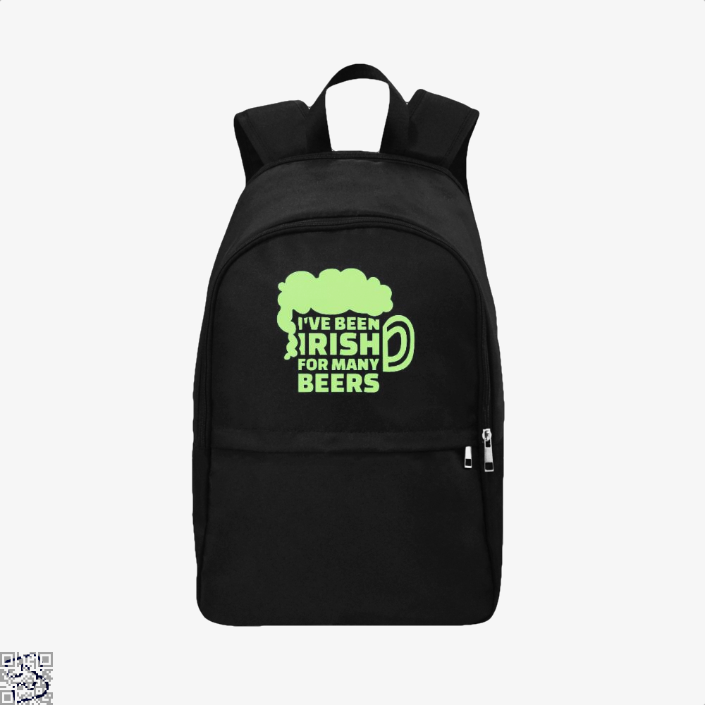 Ive Been Irish For Many Beers Clover Backpack - Black / Adult - Productgenjpg