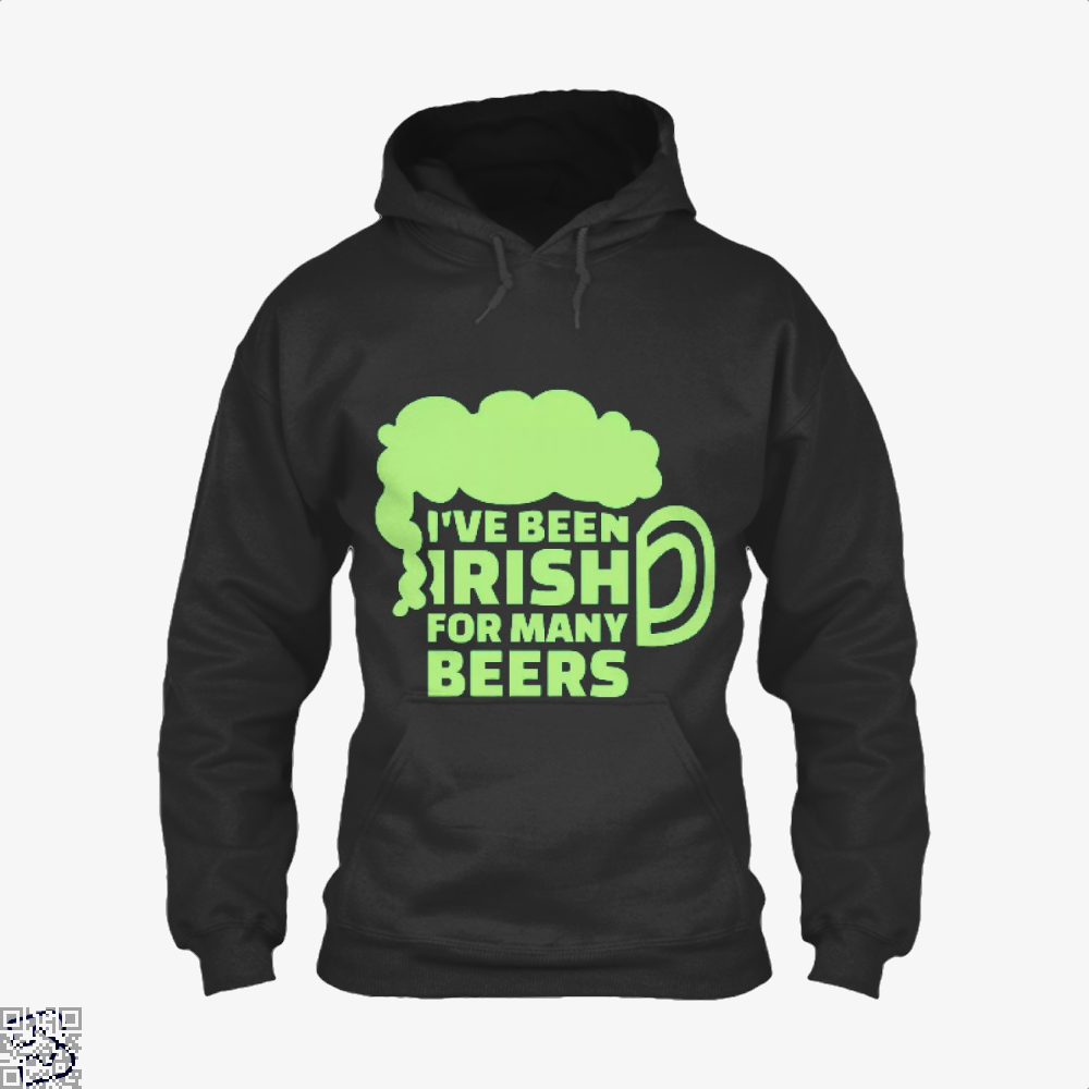 Ive Been Irish For Many Beers Clover Hoodie - Black / X-Small - Productgenjpg