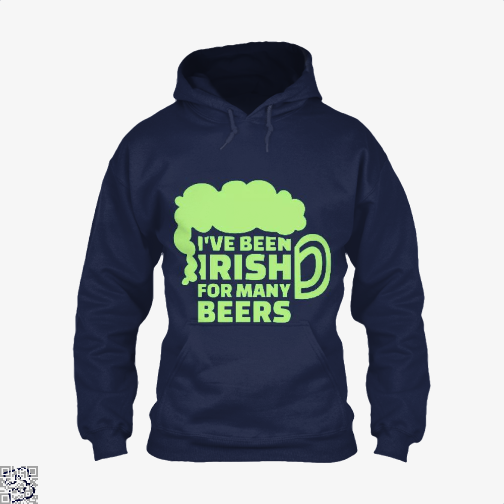 Ive Been Irish For Many Beers Clover Hoodie - Blue / X-Small - Productgenjpg