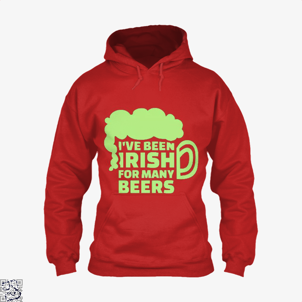 Ive Been Irish For Many Beers Clover Hoodie - Red / X-Small - Productgenjpg