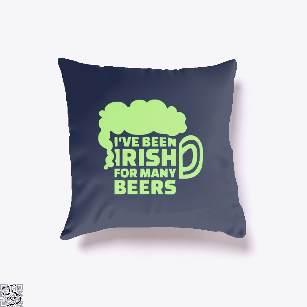 Ive Been Irish For Many Beers Clover Throw Pillow Cover - Blue / 16 X - Productgenjpg