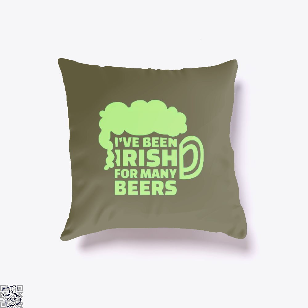 Ive Been Irish For Many Beers Clover Throw Pillow Cover - Brown / 16 X - Productgenjpg