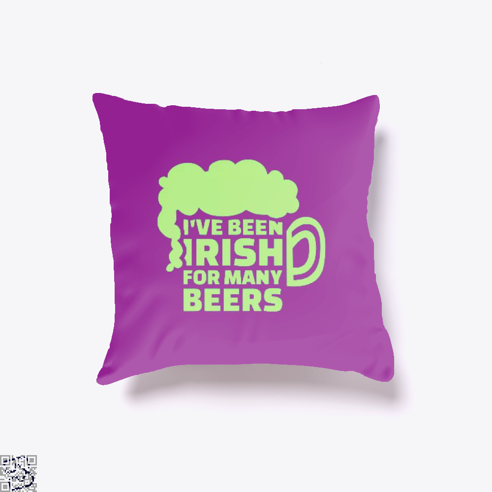 Ive Been Irish For Many Beers Clover Throw Pillow Cover - Purple / 16 X - Productgenjpg