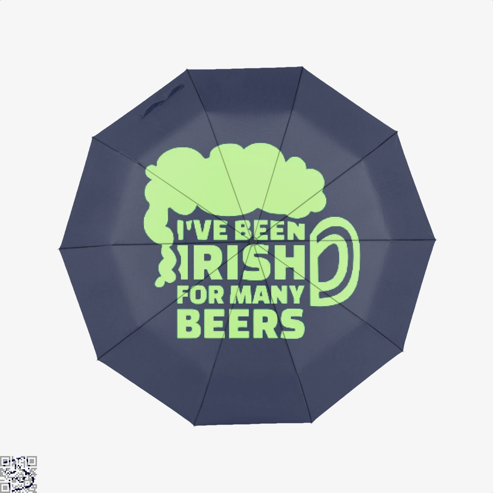 Ive Been Irish For Many Beers Clover Umbrella - Blue - Productgenjpg