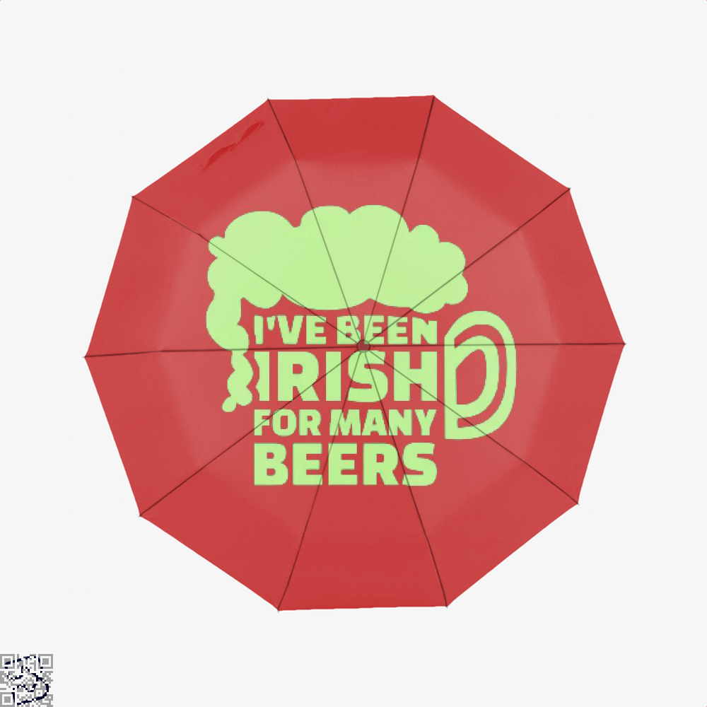 Ive Been Irish For Many Beers Clover Umbrella - Red - Productgenjpg