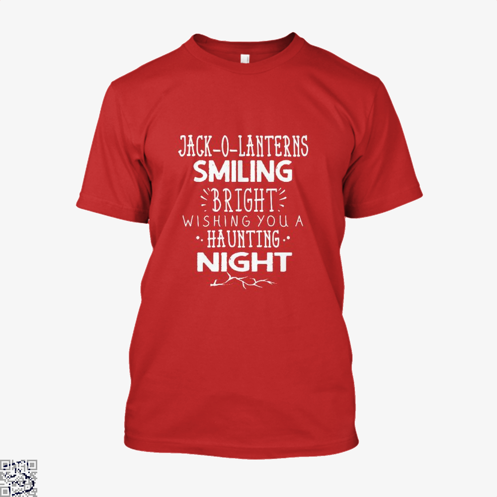 Jack O Lanterns Smiling Bright Halloween Shirt - Men / Red / X-Small - Productgenjpg
