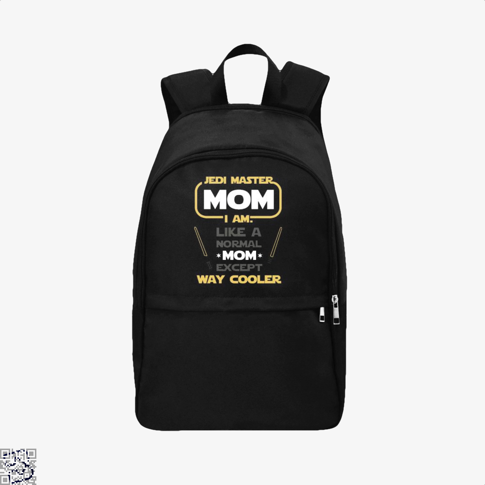 Jedi Master Mom Just Like Normal Except Way Cooler Mothers Day Backpack - Black / Adult - Productgenjpg