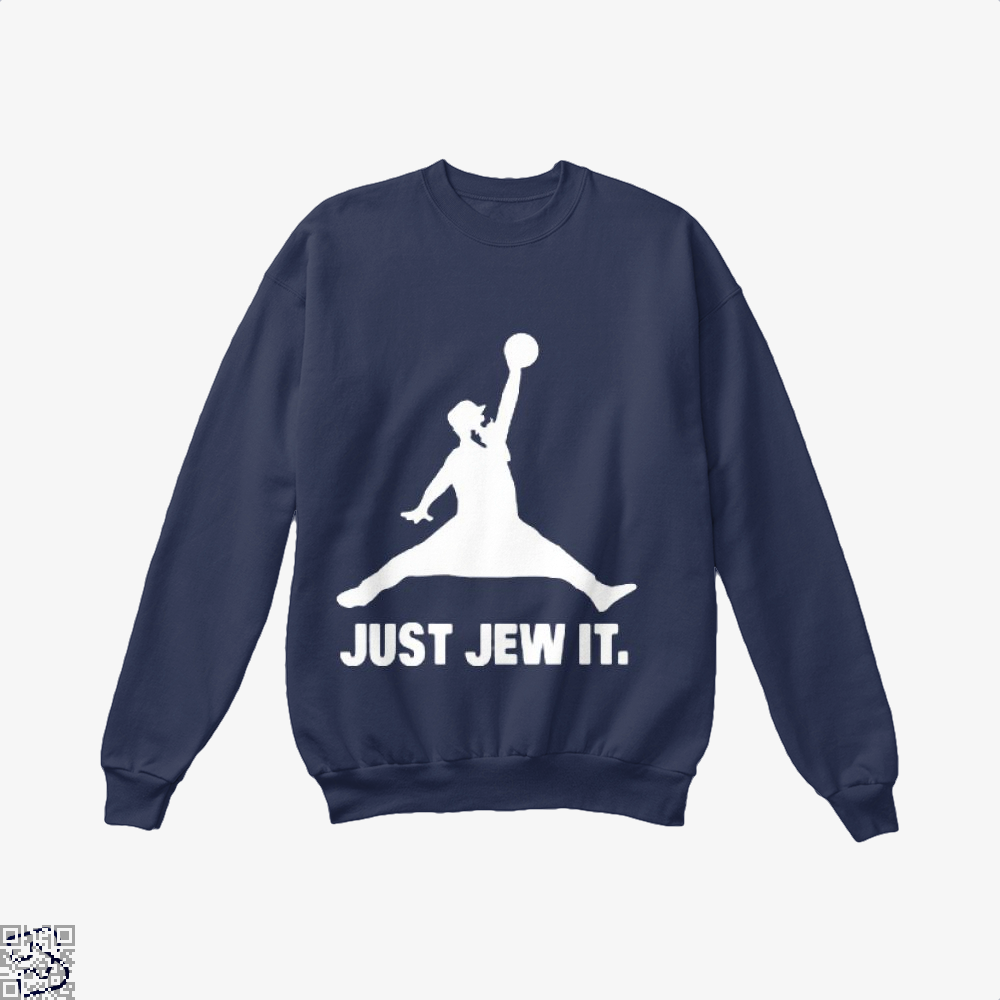 Just Jew It Burlesque Crew Neck Sweatshirt - Blue / X-Small - Productgenjpg