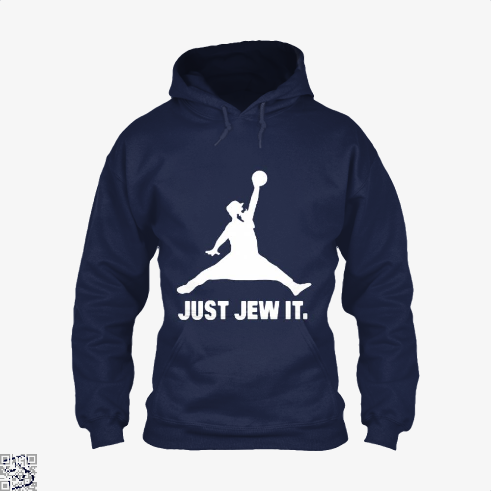Just Jew It Burlesque Hoodie - Blue / X-Small - Productgenjpg