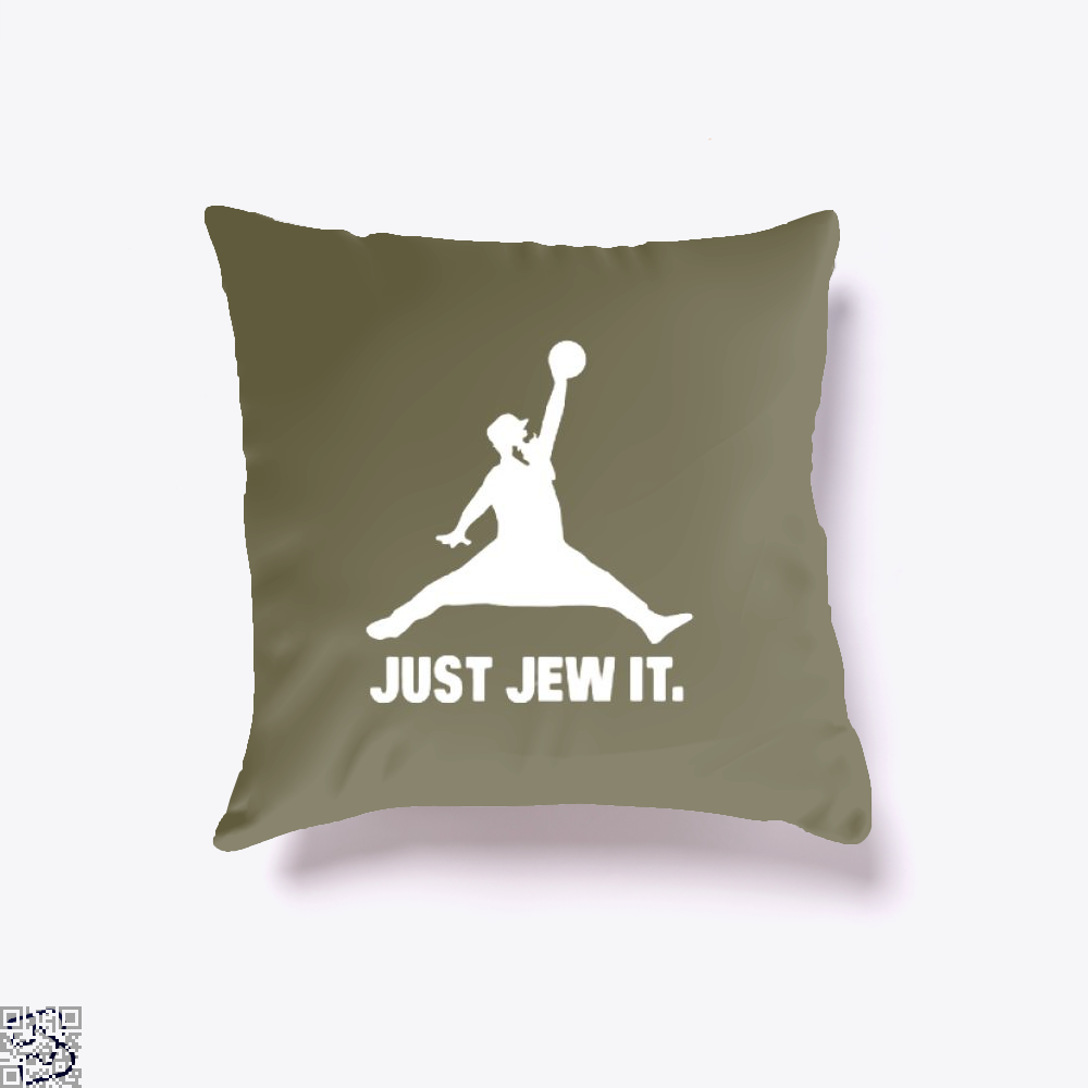 Just Jew It Burlesque Throw Pillow Cover - Brown / 16 X - Productgenjpg