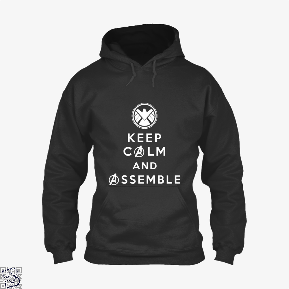 Keep Calm And Assemble Avengers Infinity War Hoodie - Black / X-Small - Productgenapi