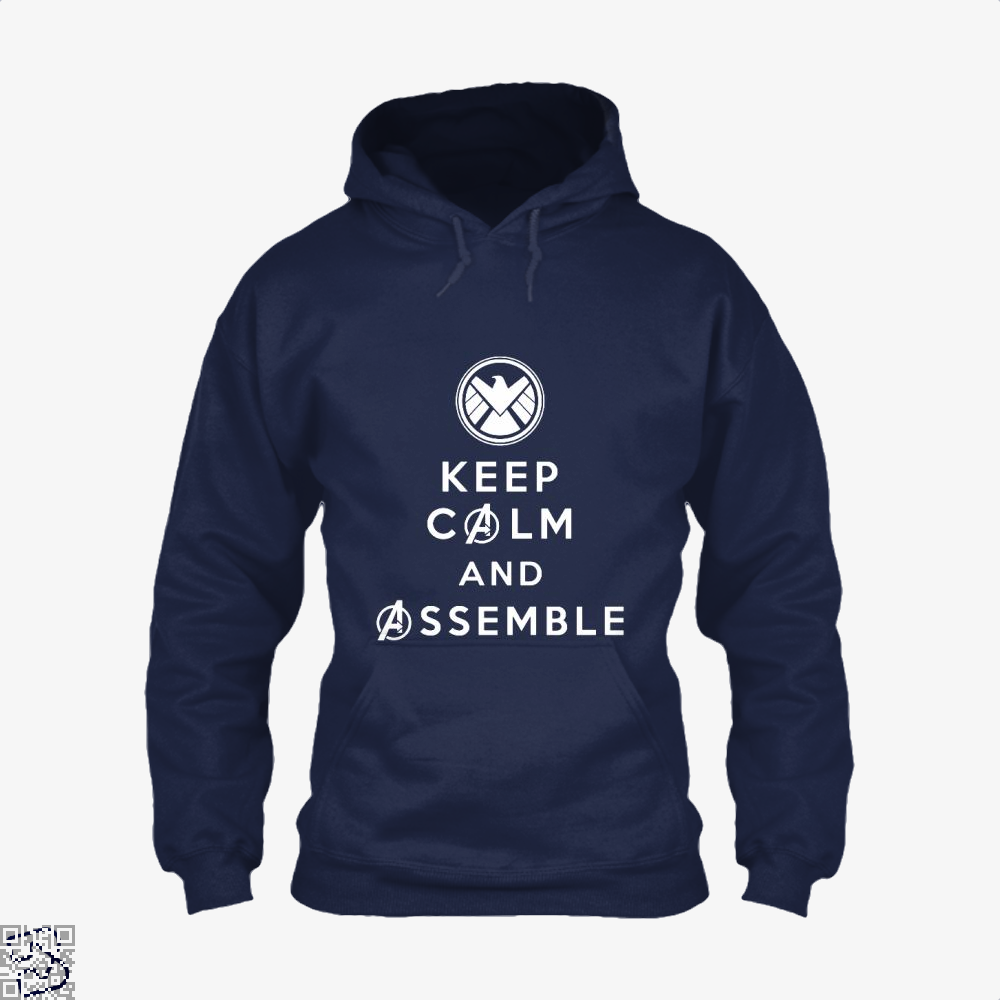 Keep Calm And Assemble Avengers Infinity War Hoodie - Blue / X-Small - Productgenapi