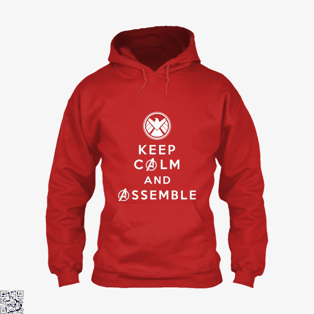 Keep Calm And Assemble Avengers Infinity War Hoodie - Red / X-Small - Productgenapi