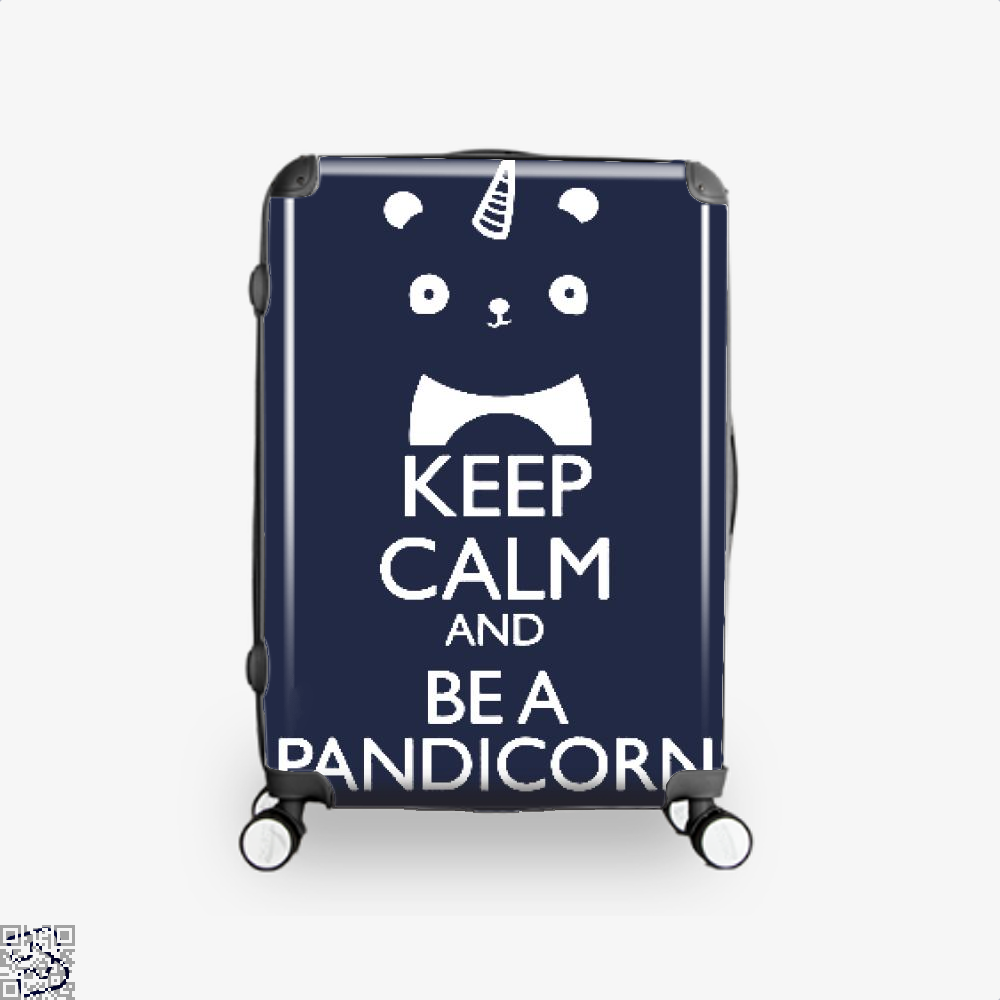 Keep Calm And Be A Pandicorn Panda Suitcase - Blue / 16 - Productgenjpg
