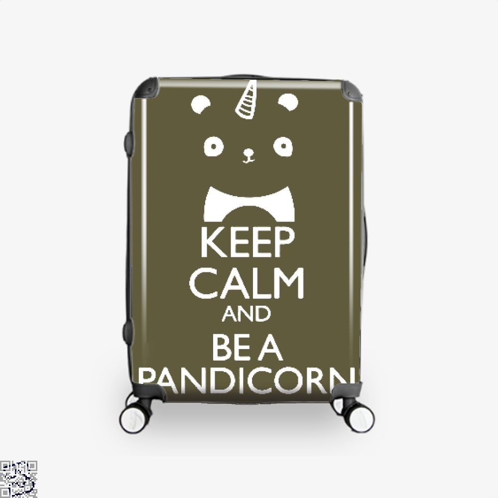 Keep Calm And Be A Pandicorn Panda Suitcase - Brown / 16 - Productgenjpg